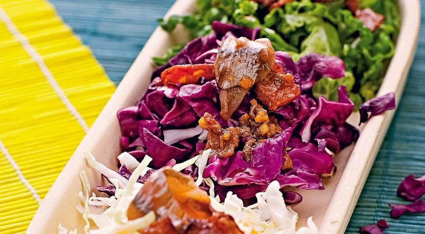 Горячий салат из капусты с анчоусами, пошаговый рецепт с фото