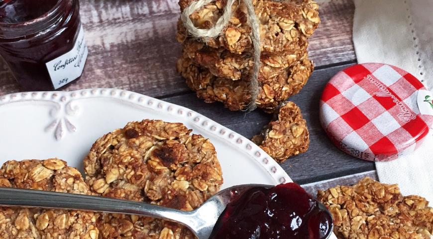 Рецепт Домашнее овсяное печенье