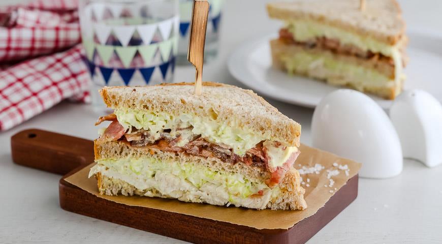 Рецепт Неклассический клубный сэндвич