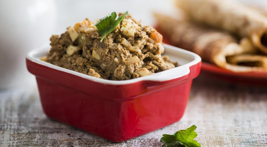 Рецепт Начинка для блинов с куриной печенкой