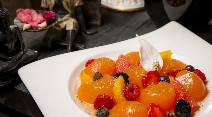 Рецепт Желе-мармелад из лайма и грейпфрута с ягодами