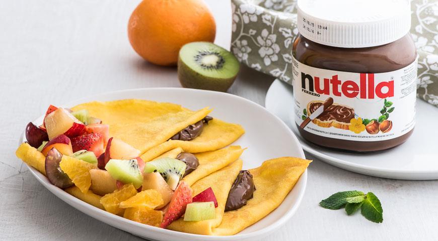 Рецепт Тыквенные блинчики с пастой Nutella®
