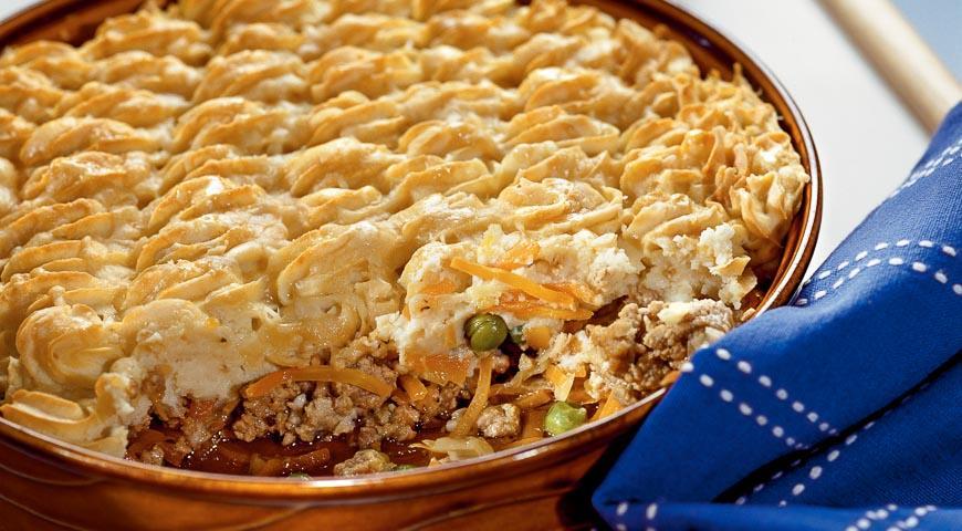 Пастуший пиріг (shepherds pie), запіканка з картоплі і баранячого фаршу