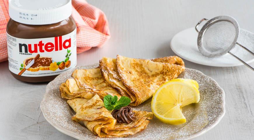 Рецепт Лимонные блинчики с пастой Nutella®