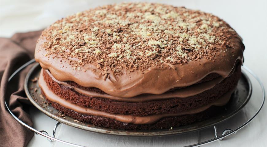 Рецепт Торт брауни с шоколадным кремом