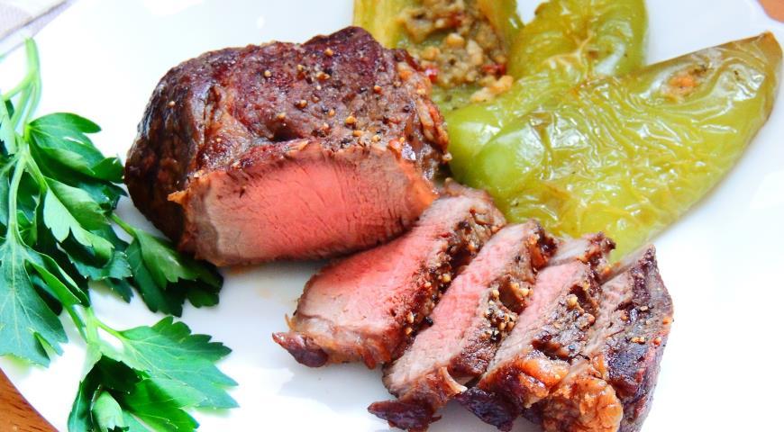 Рецепт Мраморная говядина прожарки медиум