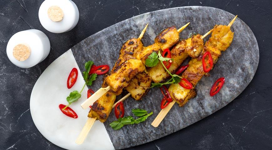 Рецепт Шашлык из трески по-азиатски