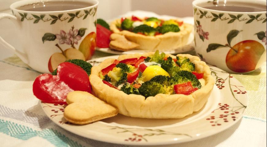 Рецепт Корзиночки с овощами и перепелиным яйцом