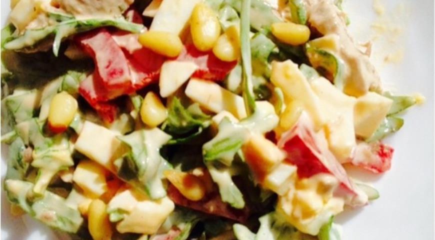 салат с кедровыми орешками и языком пошаговый рецепт