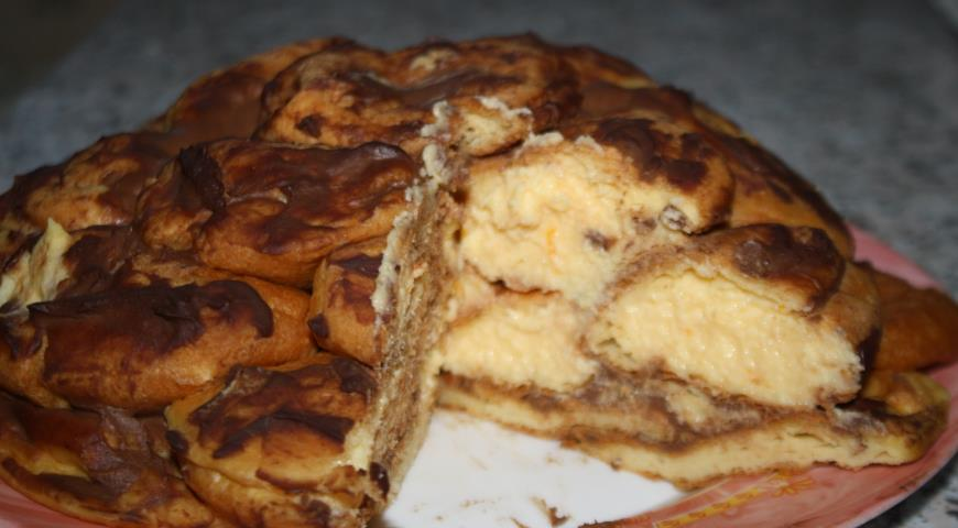 Торт из профитролей с заварным апельсиновым кремом 2
