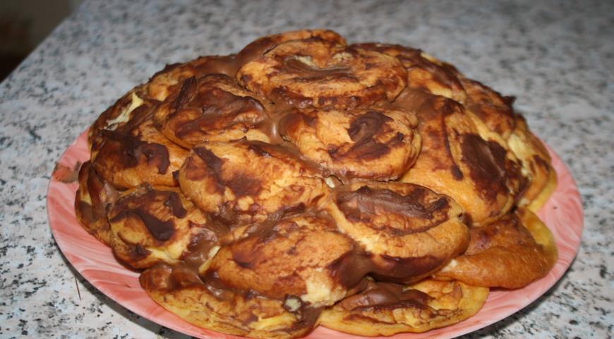 Торт из профитролей с заварным апельсиновым кремом 3