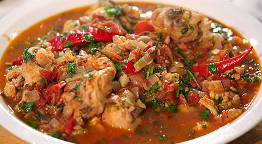 Рецепт приготовления чахохбили из курицы фото