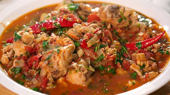 настоящее грузинское чахохбили из курицы как приготовить