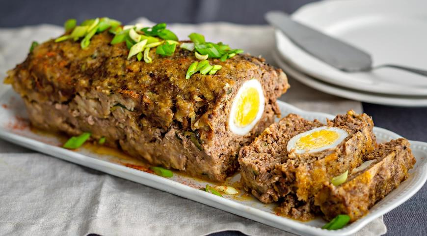 Рецепт Мясной рулет с яйцом