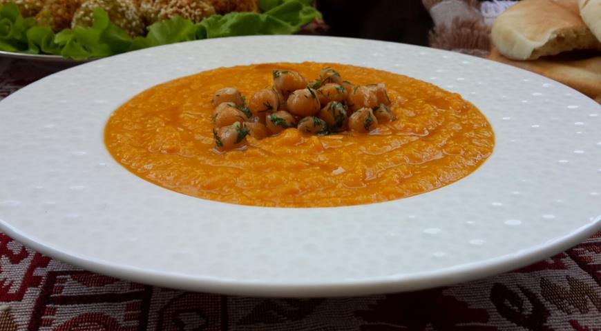 Рецепт Суп-пюре с тыквой и нутом