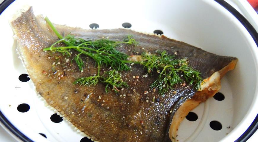 Рецепт Камбала на пару