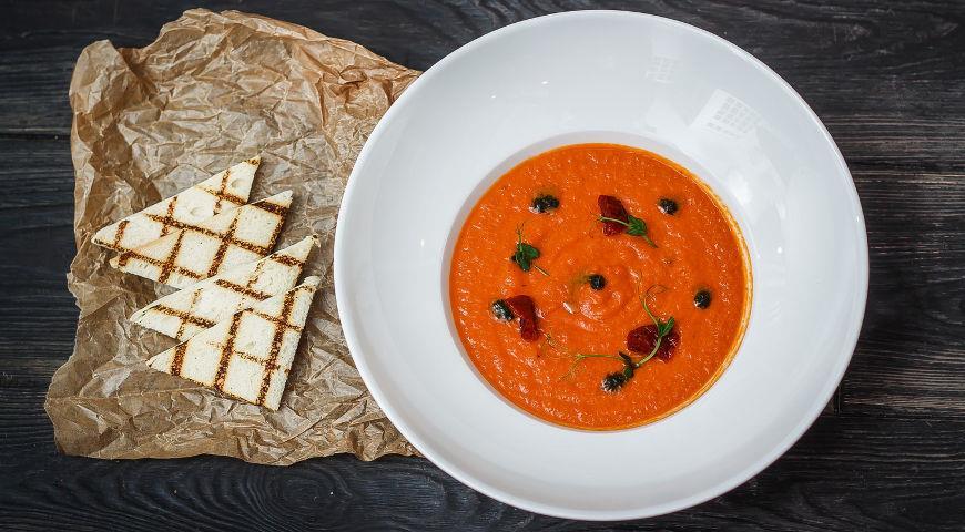 как приготовить гренки для томатного супа