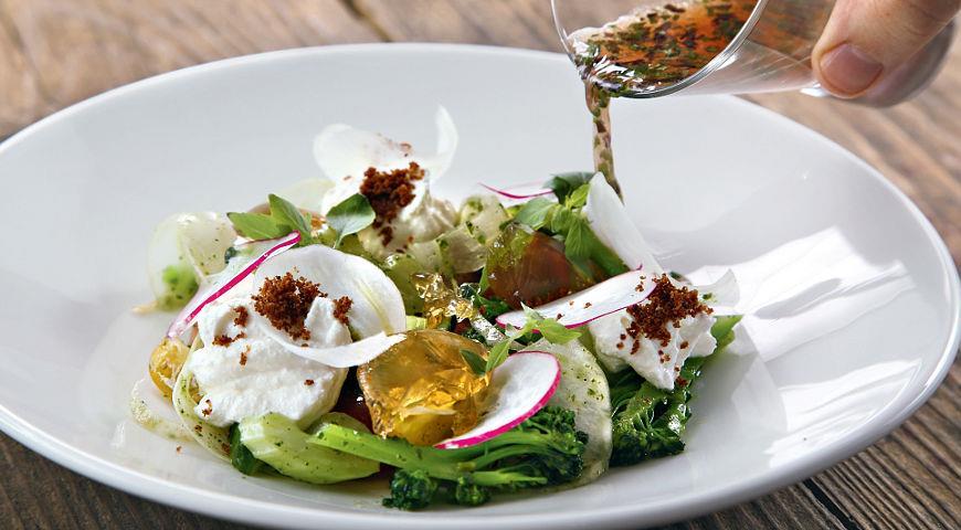 Салат с козьим муссом и яблочным желе, пошаговый рецепт с фото