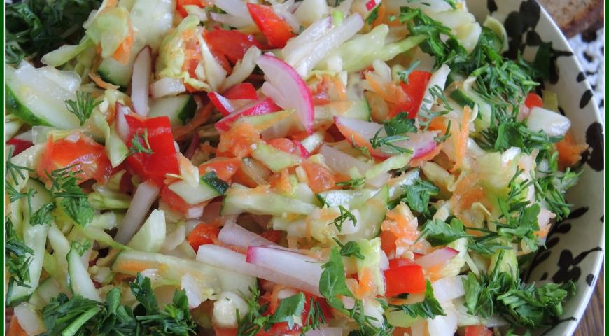 салат из молодой капусты фото рецепт