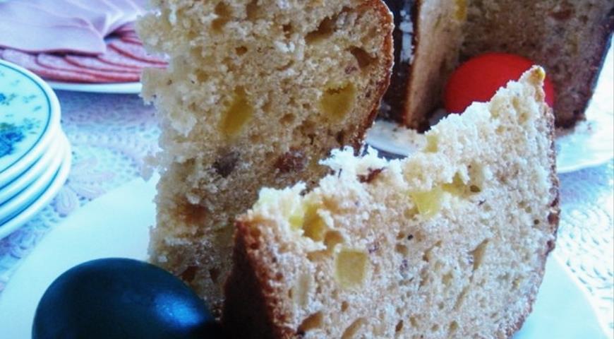 Пасхальный кулич с вяленой дыней, пошаговый рецепт с фото
