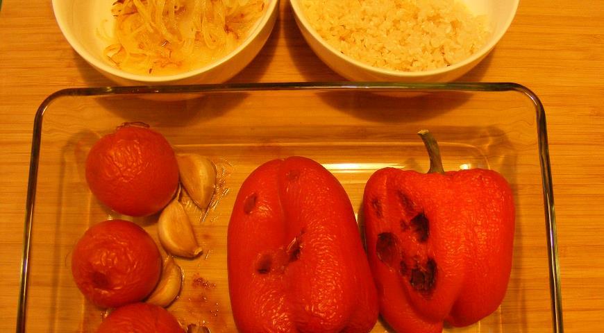Суп с рисом и печеными овощами. Шаг 2