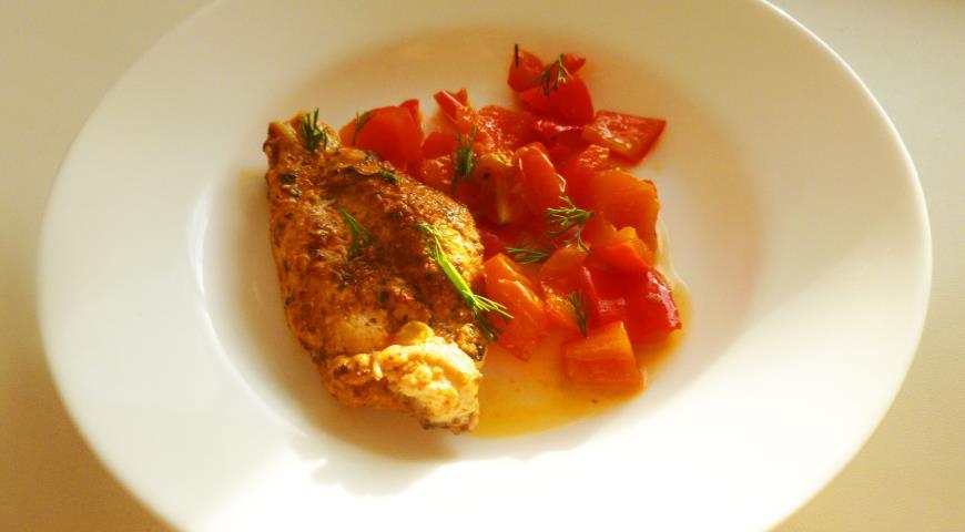 Курица с болгарским перцем рецепт пошаговый