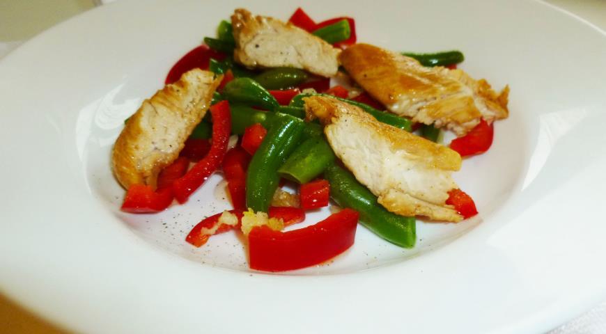 рецепт салат с курицей и стручковой фасолью рецепт с фото