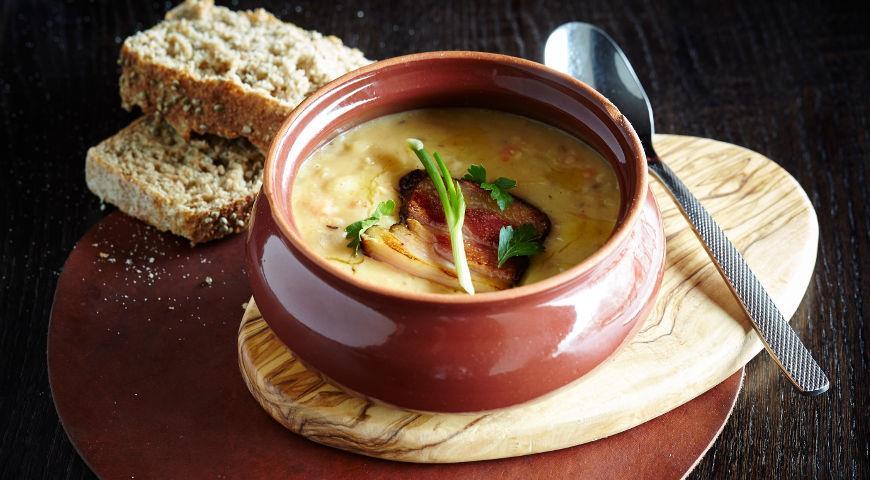 суп гороховый с копчёностями фото рецепт