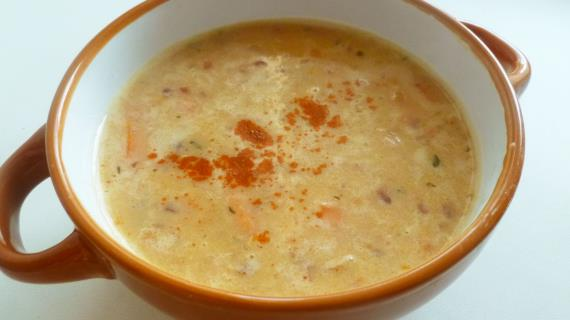 Крем-суп из фасоли