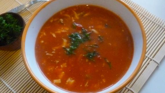 Томатный суп с брынзой