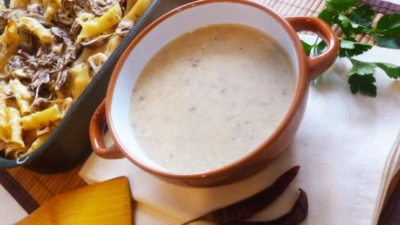 Грибной суп и макаронная запеканка