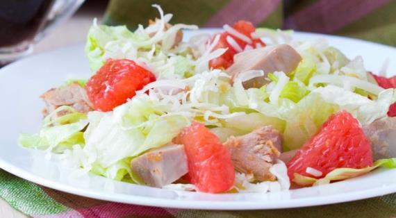 салат с грейпфрутом и курицей рецепт