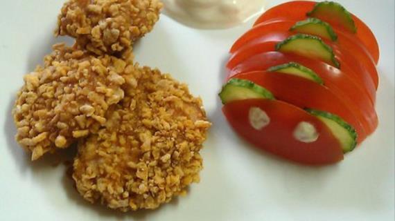 Рецепт куриные наггетсы с кукурузными хлопьями