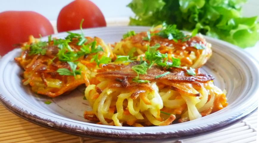 Картофельно-морковные оладьи. Шаг 3