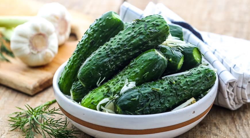 Огурцы малосольные в пакете по-быстрому - кулинарный рецепт 33