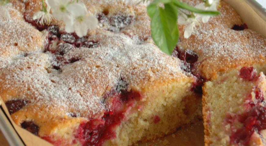 Пирог вишней пошаговый рецепт фото