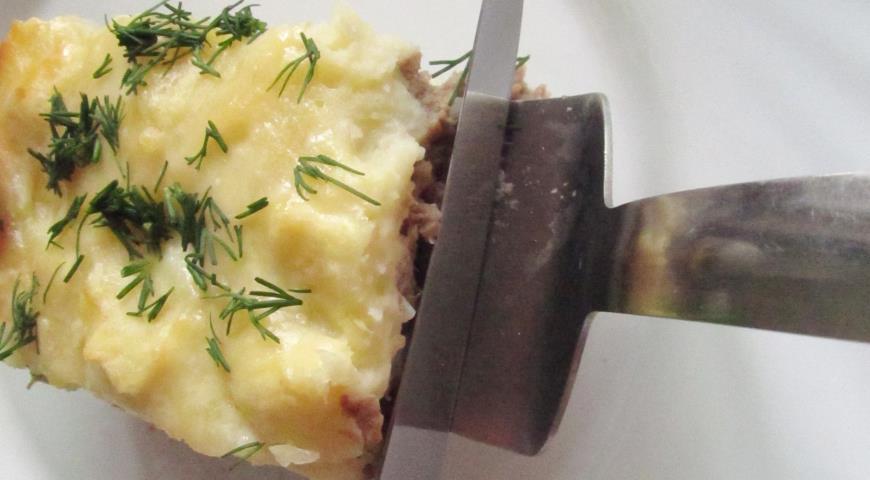 Картофельная запеканка с отварным мясом от Елены Бон. Шаг 12