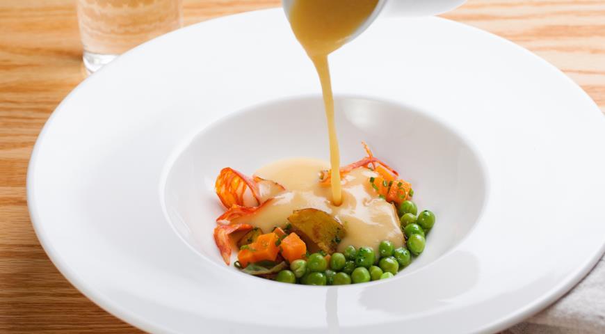 гороховый суп из говядины с копченостями рецепт с фото
