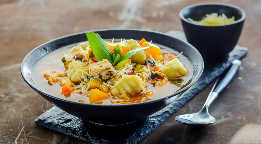 суп с овощами видео рецепт