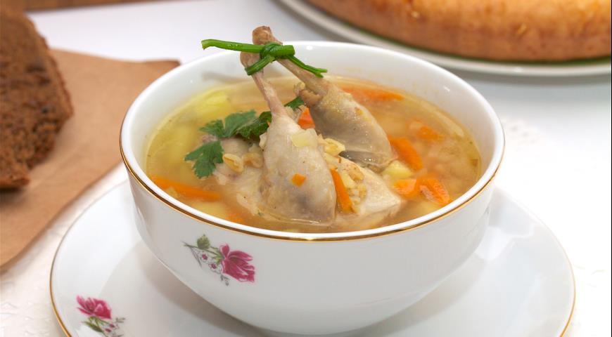 Перепела суп приготовления