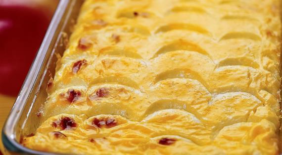 Запеканка из творога с яблоками в духовке рецепт с пошагово