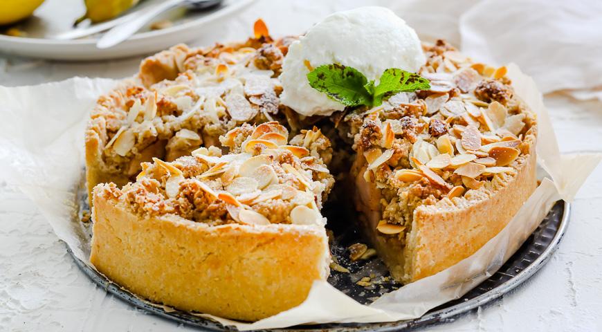 Открытый пирог с грушами рецепт