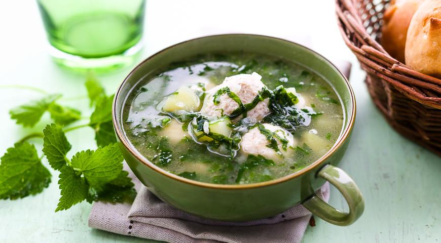Суп с фрикадельками из индюшки рецепт