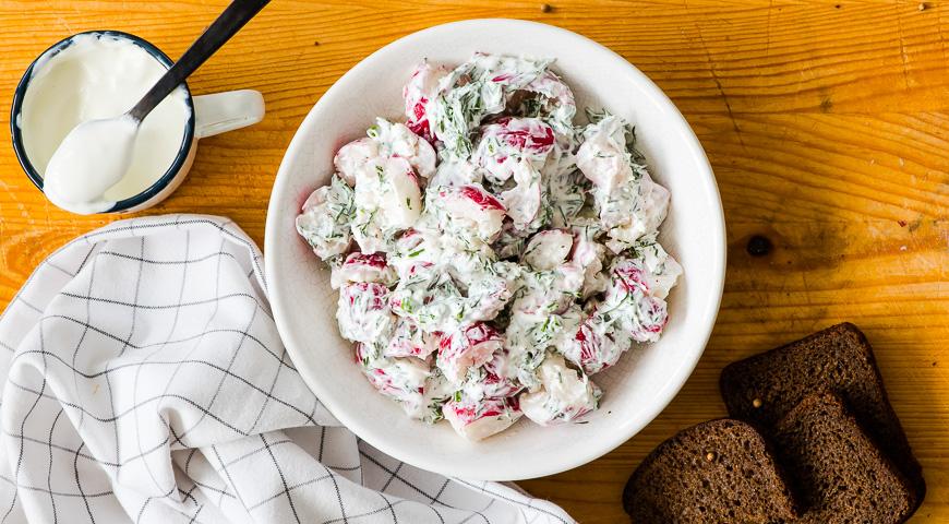 салат из редиски пошаговый рецепт