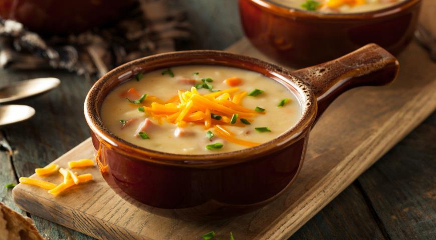 Сырно чесночный суп