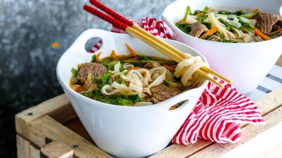 Вьетнамский суп сговядиной илапшой