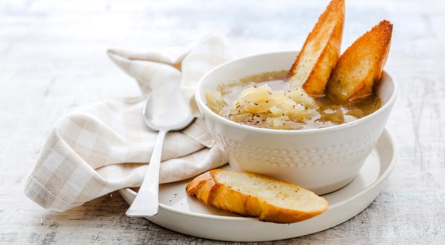 Постный луковый суп 2