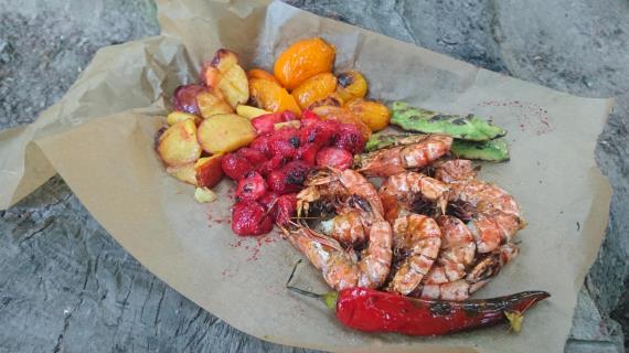Креветки на гриле рецепт с фото