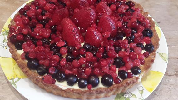 Рецепт простого пирога с ягодами с