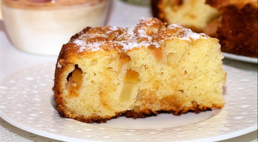 фото пирог с яблоками